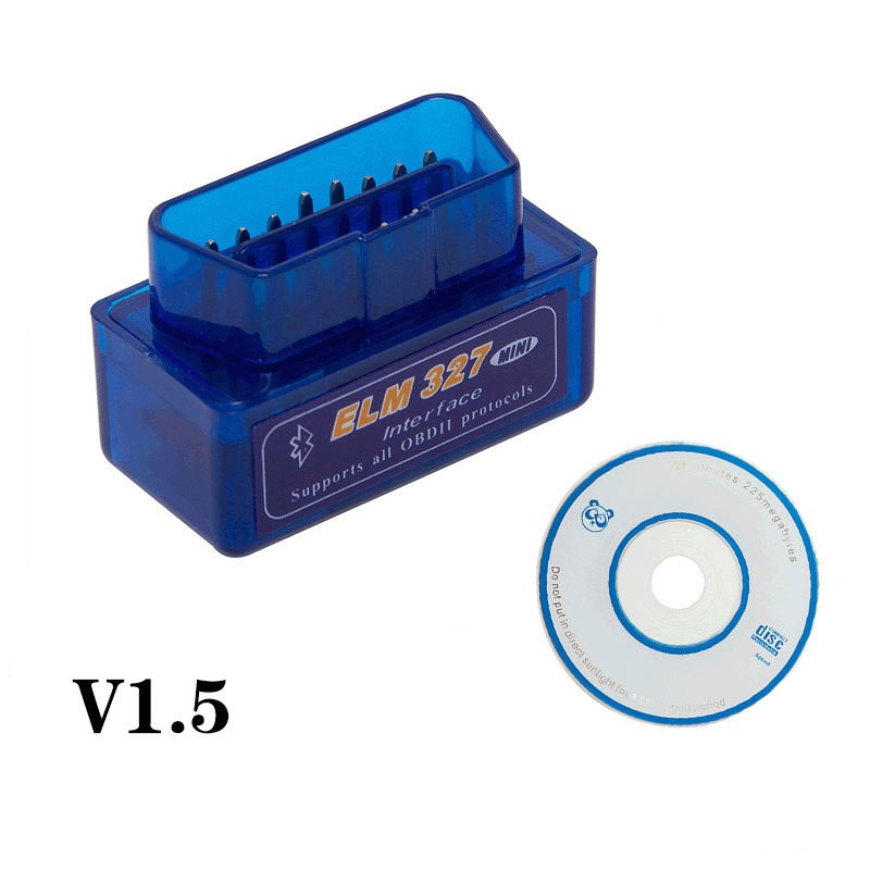 Super ULME 327 V1.5 ELM327 Bluetooth OBD2 v1.5 Android Auto Scanner Automotive OBD 2 Selbstdiagnosewerkzeug OBDII Scaner Automotriz