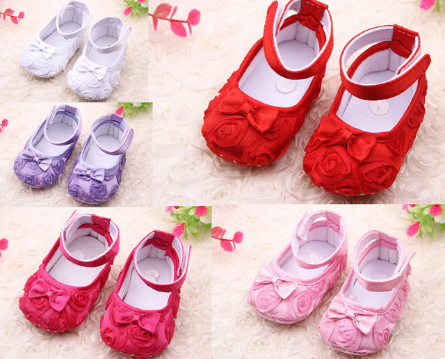 New Children Baby Shoes Girl Newborn Infant Toddlers Lace Flower First  Walkers Girls Bebe Crib Casual