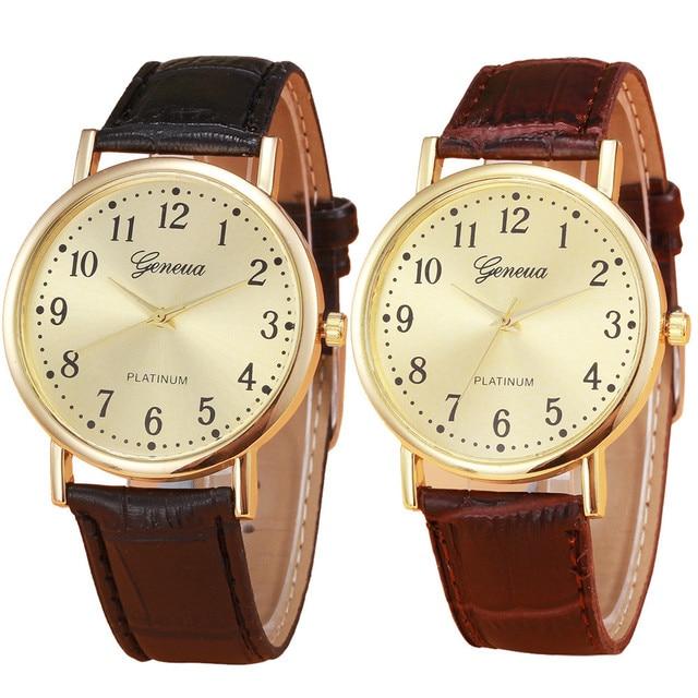Новинка 2017 года Бизнес Мужские часы Повседневное Спорт Наручные часы Ретро Дизайн Кожа Роскошные Аналоговые кварцевые наручные часы Relogio