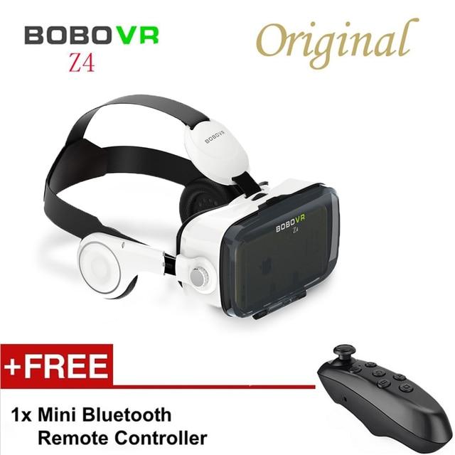 5662cecb79474 Original controle remoto bluetooth bobovr z4 realidade virtual óculos 3d  120 graus fov headset filme 3d