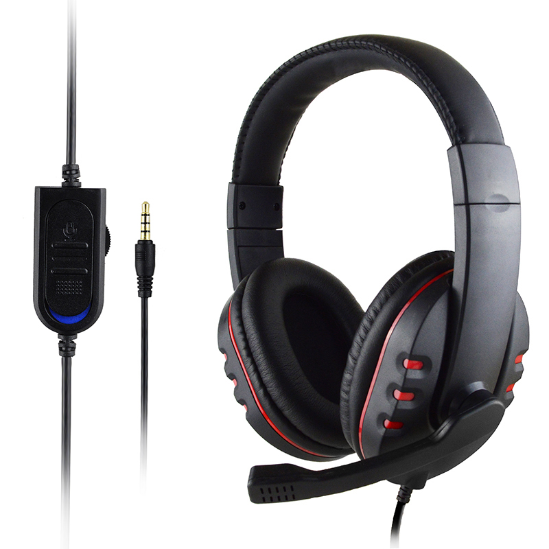 xunbeifang 100pcs For ps 4 Wired gaming Headset earphones with Microphone Headphones for PS4 games