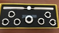 New !! 5537 with 36.5mm Die Grooved Watch Case Back Opening Wrench Key and Die Chuck Set