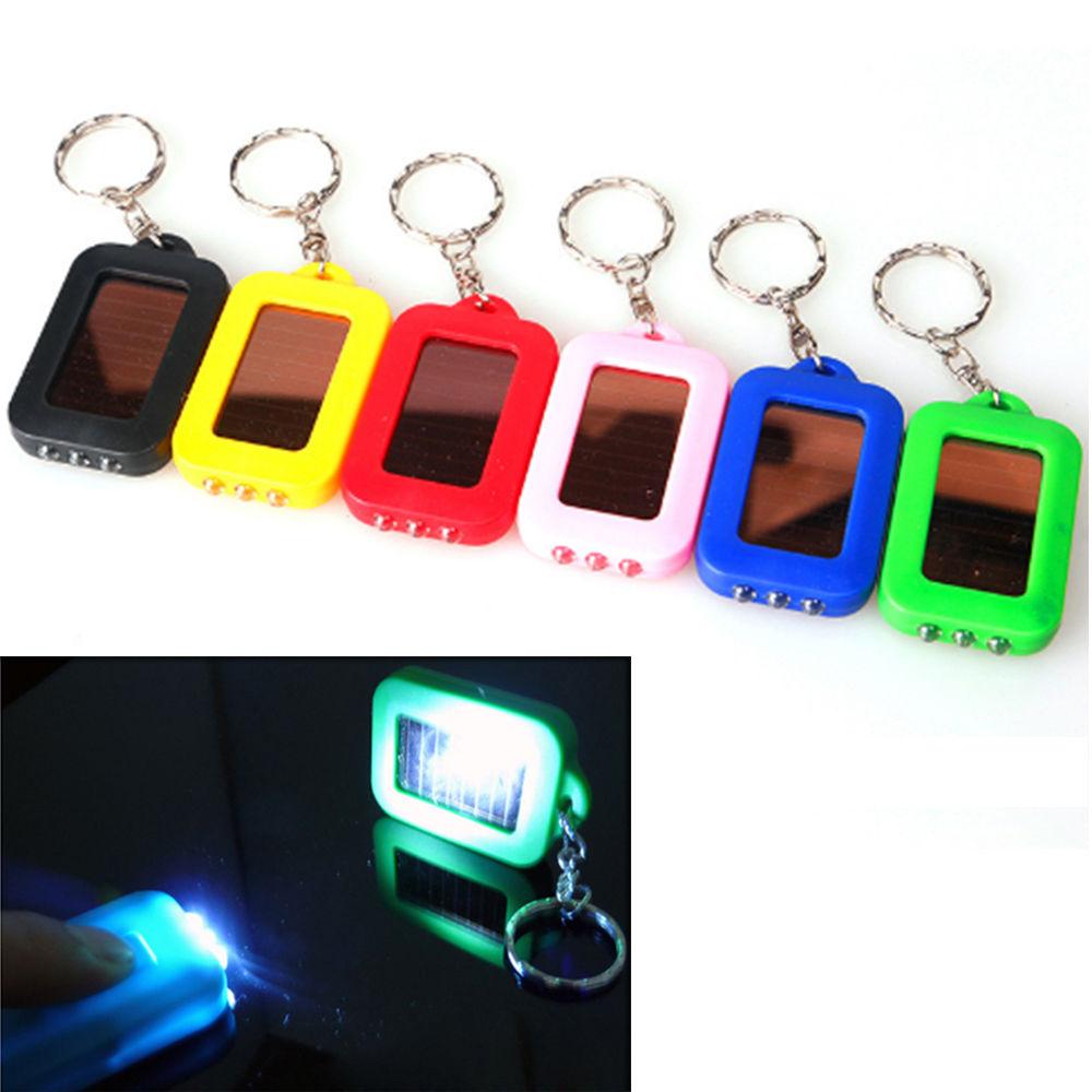 Tragbare Laternen 9 Farben Mini Camping Licht Tragbare Solar Power Wiederaufladbare 3 Led Solar Licht Led Taschenlampe Lampe Keychain