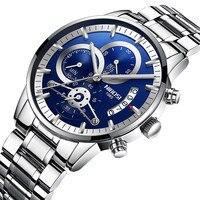 Мужские кварцевые брендовые Роскошные мужские часы классические модные часы Relogio Masculino военные популярные мужские спортивные часы NIBOSI