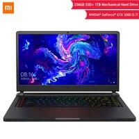 Оригинальный Xiao mi Ga mi ng ноутбук 15,6 дюймов GTX 1060 mi ноутбук 8th повышение SSD 256 г + 1 ТБ i7 шестиядерный 16 Гб/i5 четырехъядерный 8 Гб компьютер