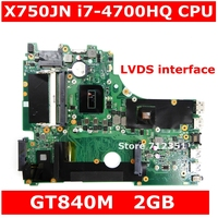 X750JN i7-4700HQ процессор GT840M 2 Гб материнская плата REV 2,0 для ASus X750J X750JN X750JB материнская плата для ноутбука 90NB0660-R00020 100% протестированная