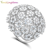 Elegant Queen Wedding Fine Jewelry Banquet Party Rings Inlay CZ Diamond Gold Plated Fashion Charm Ring