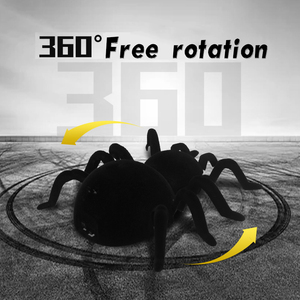 RC Electronic Pet Spider Giant Infrared Spider Latrodectus Black Widow  Remote Controlled Tarantula Tricky Prank Scary Toy Gift