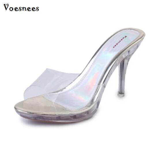 Shoes Woman Summer Sexy High-heeled Sandals Slippers Female Transparent Crystal Waterproof Drag Sandals Thick Fish Head Sandals 2015 summer women s high heeled shoes fish head shoes korea princess waterproof fine with sexy high heeled sandals