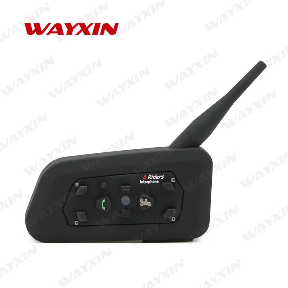 WAYXIN Helm Headsets intercomunicador bluetooth para motocicleta universal comunicador moto klapphelm