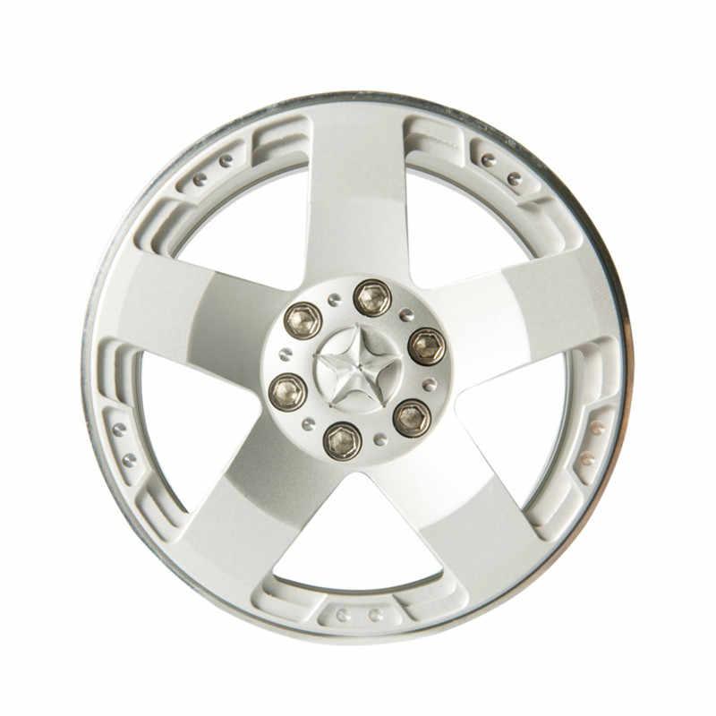 1 PC plata 2,2 pulgadas RC 1:10 Rock orugas aleación llantas para RC orugas Axial SCX10 espectro 90018 Beadlock ruedas Hub envío gratis
