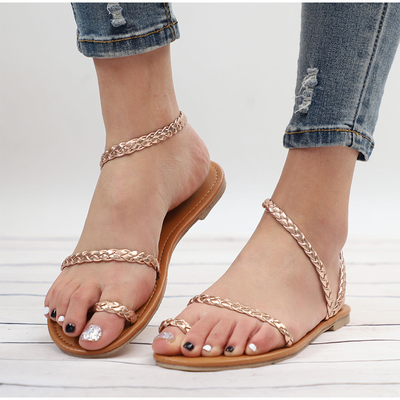 HTB17WUHMrvpK1RjSZFqq6AXUVXaX MCCKLE Plus Size Thong Sandals Summer Women Flip Flops Weaving Casual Beach Flat With Shoes Rome Style Female Sandal Low Heels