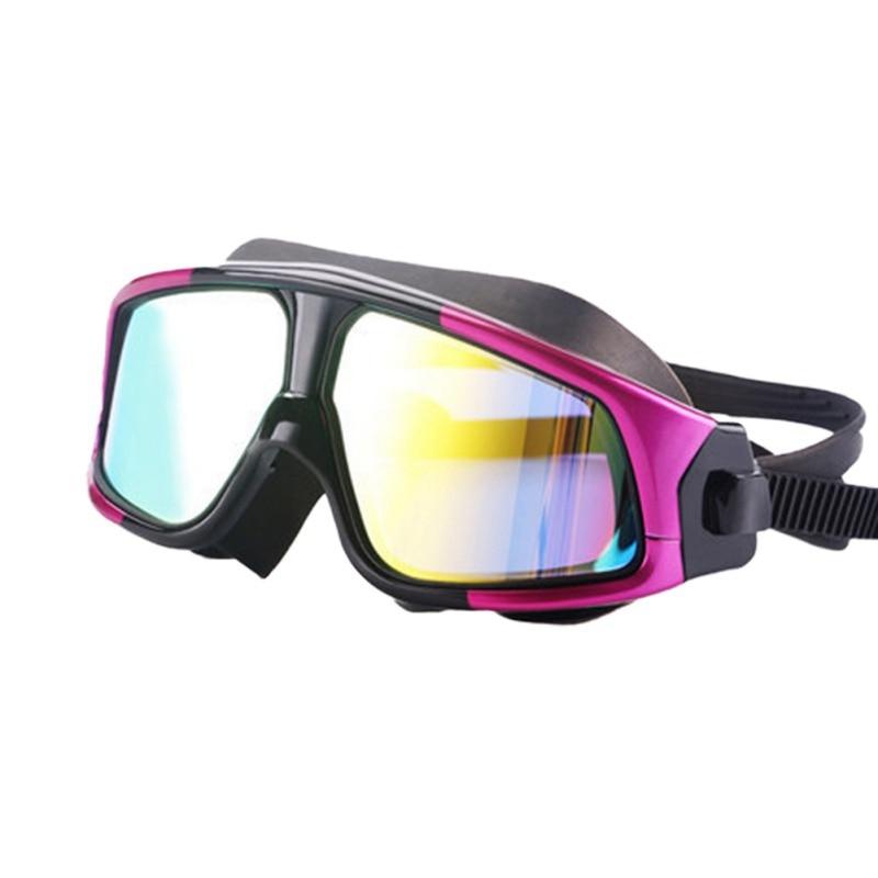 Очки для плавания ming, для мужчин и женщин, спортивные, профессиональные, анти-туман, защита от ультрафиолета, водостойкие, регулируемые, очки для плавания - Color: 5