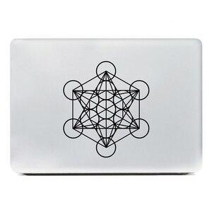 Плюсневый куб Священная Геометрическая наклейка украшение окна автомобиля, плюсневый ноутбук Виниловая наклейка для Apple MacBook Air/Pro украшени...