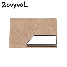ZOVYVOL 2019 NEW Men and Women Card Holder PU Stainless Steel Credit With RFID Single Box Mini Wallet ID Holders
