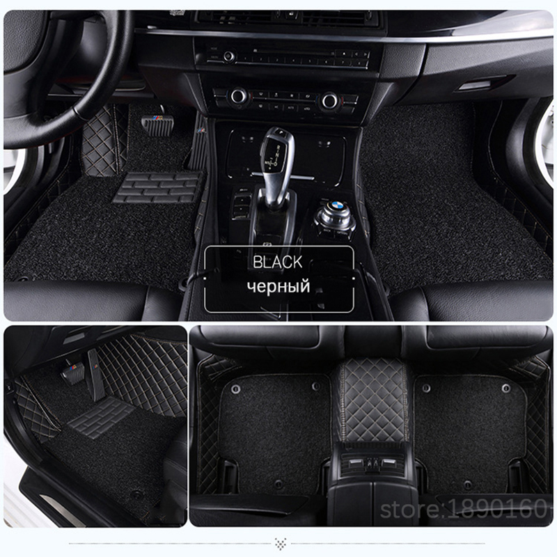 Custom car floor mats for Citroen All Models c4 c5 c2 c3 drain BLACK/GRAY/RED/BLUE car accessories car styling floor mat