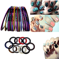 New 10Pcs Mixed Colors Nail Rolls Striping Tape Line DIY Nail Art Tips Decoration Sticker Nails Care