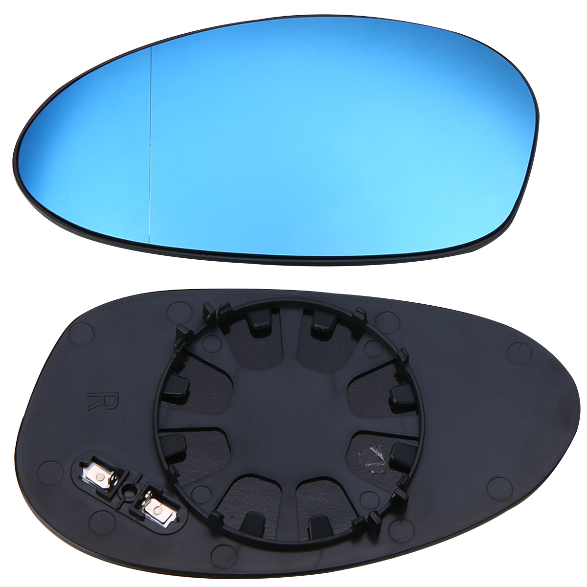 1Pair Door Mirror Glass Heated Blue Glass Wide Angle Aspherical Universal For BMW 3-Series E82 E90 E91 E92 E46