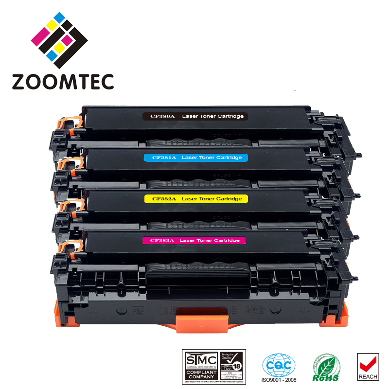 1Set CF380A CF381A CF382A CF383A 380 380a 381a 382a 383a Compatible Color Toner Cartridge For HP LaserJet Pro MFP M476DW M476NW