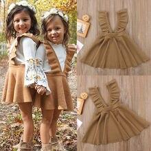 Пышная юбка-пачка на бретелях с цветочным принтом для маленьких девочек популярная одежда От 1 до 5 лет