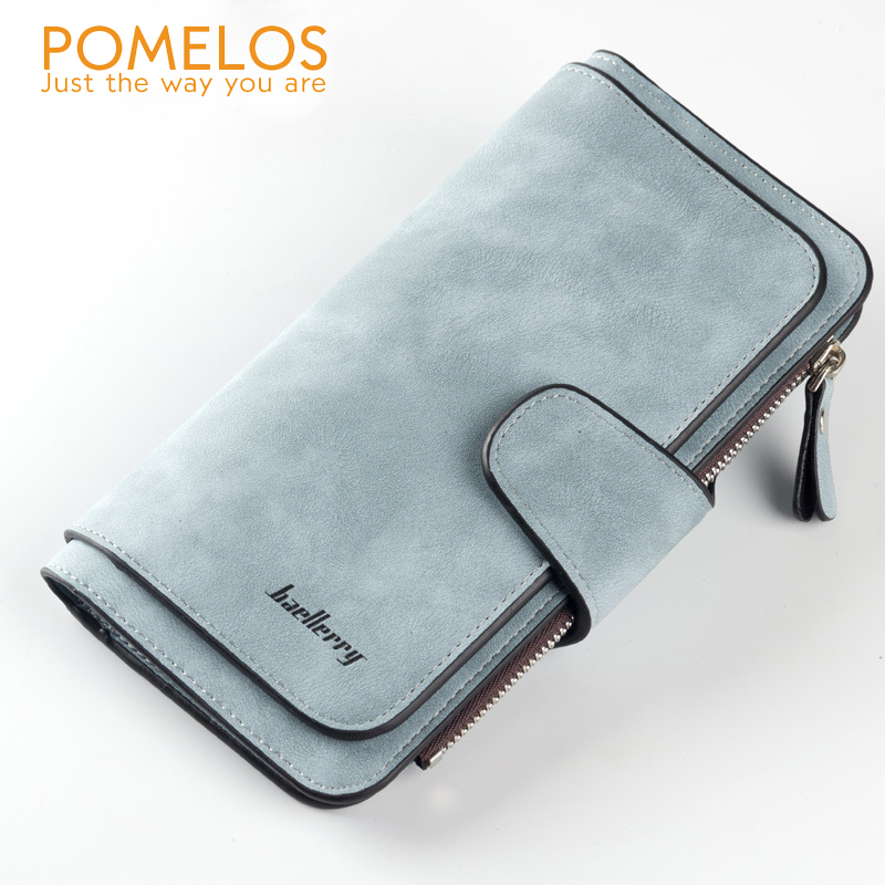 POMELOS Hot Sale Women Wallets Soft Polish PU Leather Long Ladies Purse with Coin Pocket Fashion Female Tri-folds Money Wallet new women fashion leather hasp tri folds wallet portable multifunction long change purse hot female coin zipper clutch for girl