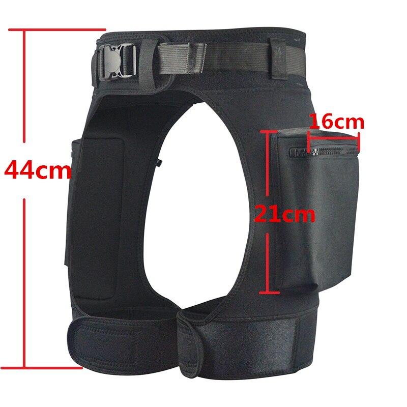 Néoprène combinaison Tech Shorts charge Submersible poids poche jambe cuisse pantalon Bandage pantalon équipement de plongée sous-marine accessoires - 3
