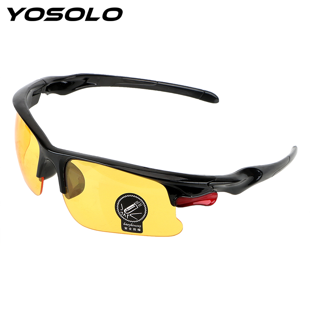YOSOLO Protective Gears Sunglasses Night Vision Drivers Goggles Driving Glasses Anti Glare Night-Vision Glasses anti fatigue eyesight vision improve pinholes stenopeic glasses eye care sunglasses