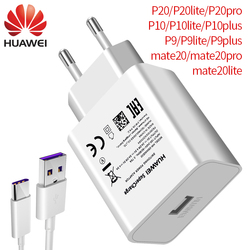 Huawei P20 pro P20  mate 9 10 Pro P10 Plus Super charger Wall Travel Quick  Fast Charger EU Adapter 5A Type c Cable mate9 mate10