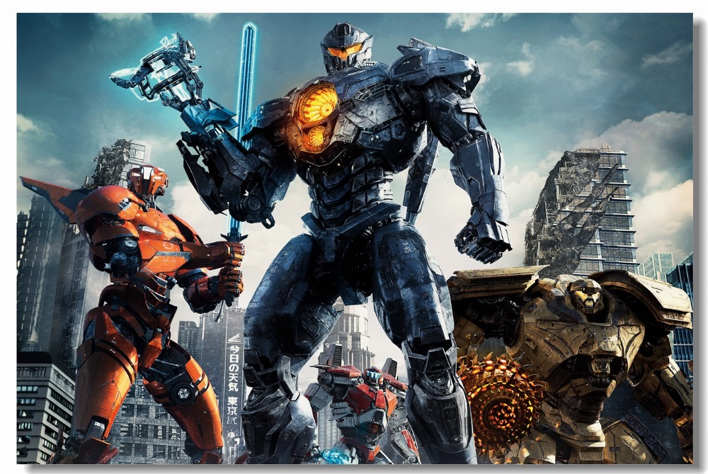 Custom Canvas Wall Decals Pacific Rim Uprising Poster Gipsy Avenger Wallpaper Titan Redeemer Stickers