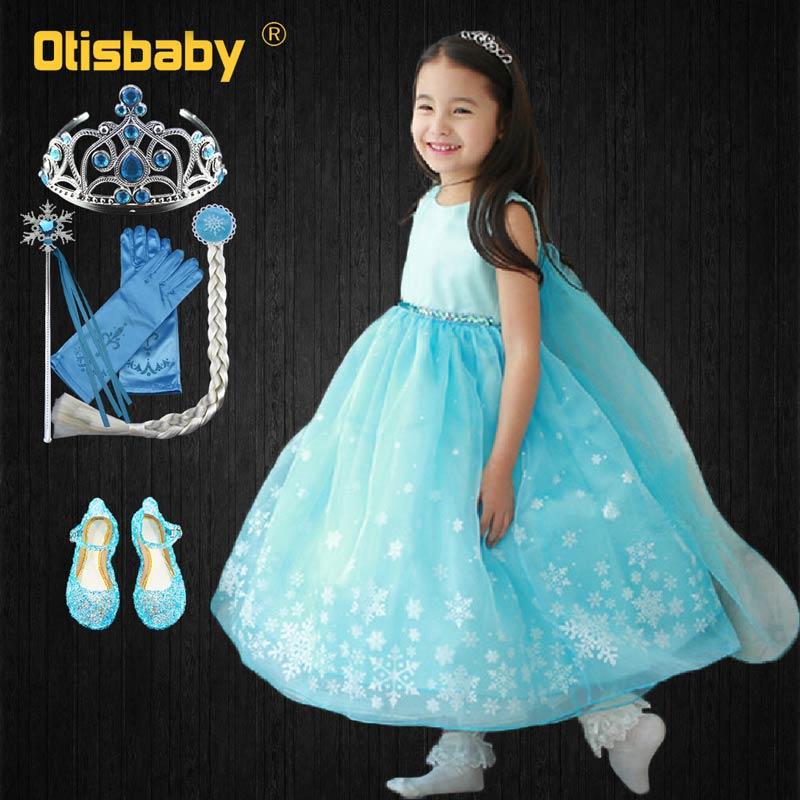 3-10 jahre Mädchen Schnee Königin Elsa Prinzessin Tutu Kleid Candy Sommer Pageant Mädchen Rapunzel Prom Geburtstag Party Kleid kinder Kleidung