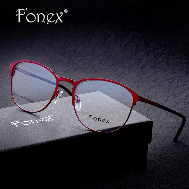 2017 Super High Quality Women Brand Designer Sun Glasses Optical Frames Titanium Female Round Eyeglasses Full Frame ip Plating