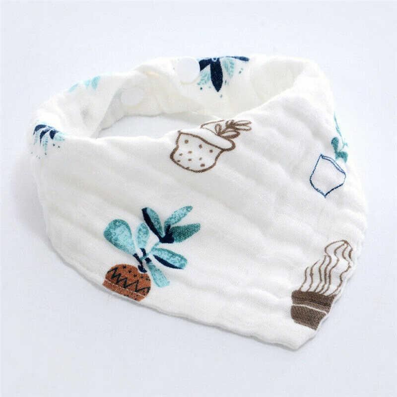 2019 algodón Baberos suaves para bebés Unisex recién nacido niños y Niña bebé bufanda Multi-capa estrella Saliva toalla alimentación del bebé baberos Bandana Slabbers