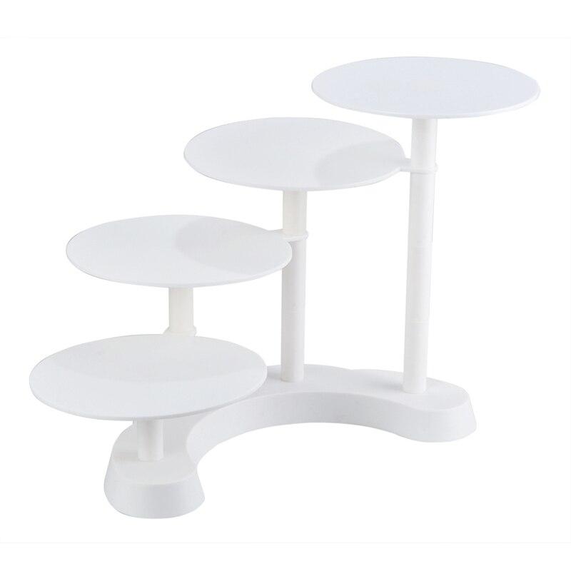 Facemile 4 Couche De Noce Gâteau Rack Escalier-Stepping Multicouche En Plastique Affichage Cupcake Stand Pour La Maison Cuisine Commerciale