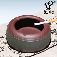Yixing tea wholesale accessories decoration large purple ashtray FRET manufacturers selling the total mixed batch