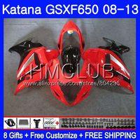 Kit Factory red For SUZUKI KATANA GSXF 650 650F GSX650F 08 09 10 11 12 13 24HM.12 GSXF650 2008 2009 2010 2011 2012 2013 Fairing