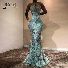 Африканские кружевные вечерние платья русалки сексуальные длинные