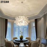 Modern Minimalism Fabric Art Pendant Lights Romantic Textile Hanglamp for Bedroom Wedding Room Living Room Nordic Light Fixtures