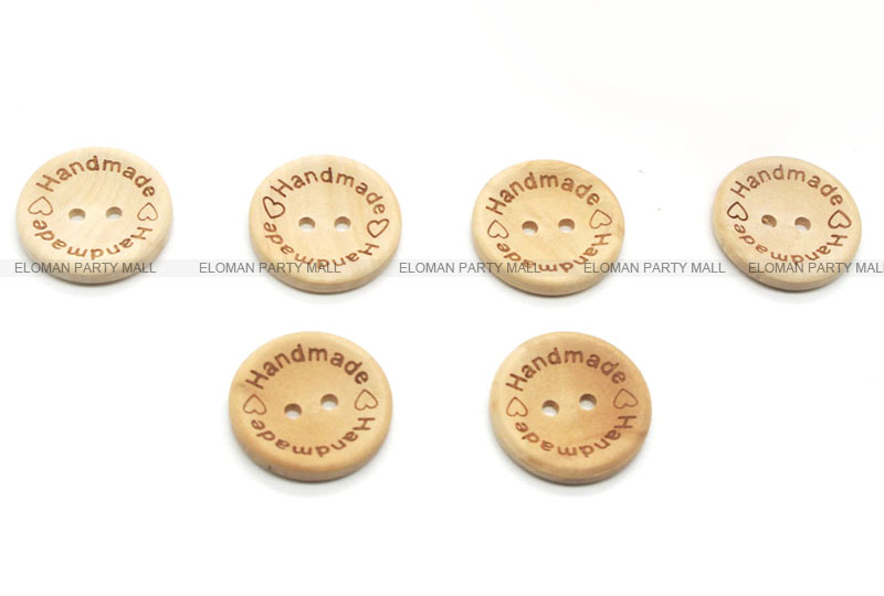 HTB17WWcapYM8KJjSZFuq6Af7FXaN ELOMAN 50PCS/lot Natural Color Wooden Buttons handmade love Letter wood button craft DIY baby apparel accessories