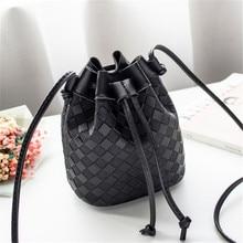 купить Fashion Women Shoulder Bucket bags PU leather Bag luxury handbags women bags designer Small Mini Ladies Messenger Bags bolsa fem по цене 318.49 рублей