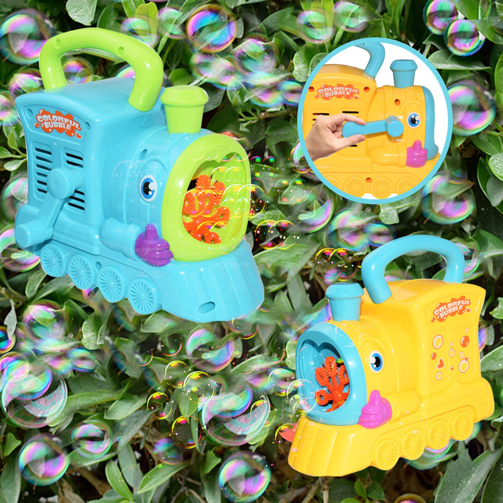 Bubble Machine Water Blowing Toys Creative Cartoon Hand Locomotive Bubble Machine Outdoor Kids Toy Dropshipping T9#