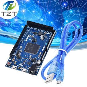 Image 1 - Official Compatible DUE R3 Board SAM3X8E 32 bit ARM Cortex M3 / Mega2560 R3 Duemilanove 2013 For Arduino Due Board  With Cable