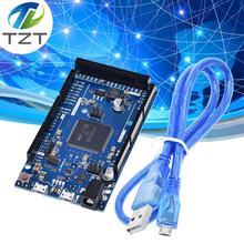 Официальный Совместимость из за R3 доска SAM3X8E 32 битный ARM Cortex M3 / Mega2560 R3 Duemilanove 2013 для Arduino DUE плата с кабелем