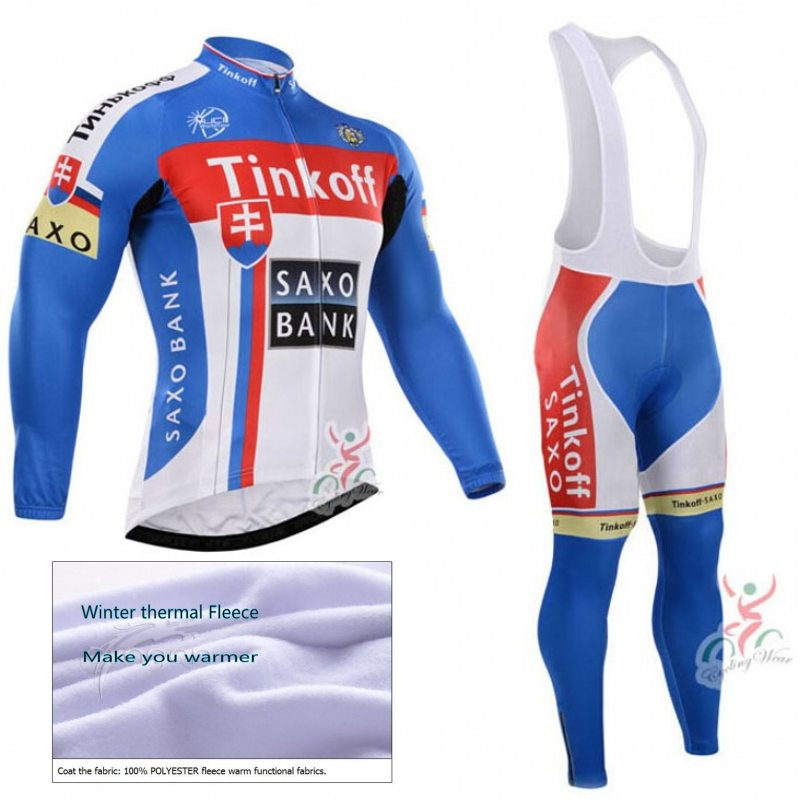 цена на Pro team tinkoff cycling jersey winter thermal fleece Ropa Ciclismo long sleeve Breathable cloth quick dry MTB Bicycle maillot