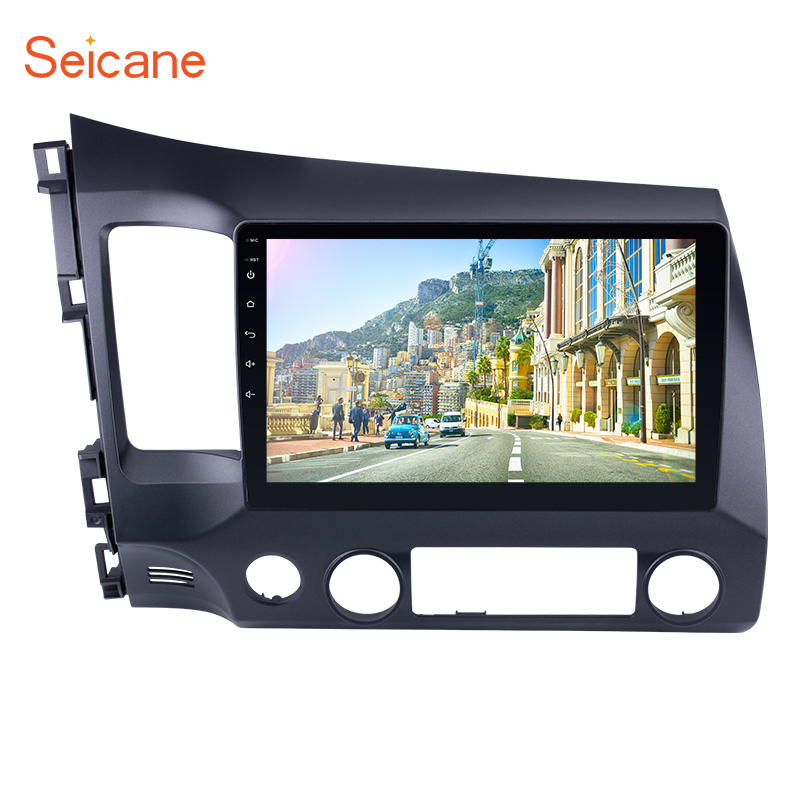 "Seicane 2Din Android 6.0/7.1/8.1 10.1"" Car Radio Audio Touchscreen Multimedia Player GPS Head Unit For Honda Civic 2006-2011"