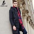 Pioneer camp chegada nova marca longos e grossos de inverno jaqueta de pato para baixo homens Top qualidade da moda quente de pato branco para baixo casaco masculino 611637