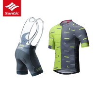 Santic Cycling Jersey Set Men 4D Sponge Padded Pro Cycling Clothing Bike Bicycle Jersey Suits Sportswear Maillot Ropa Ciclismo