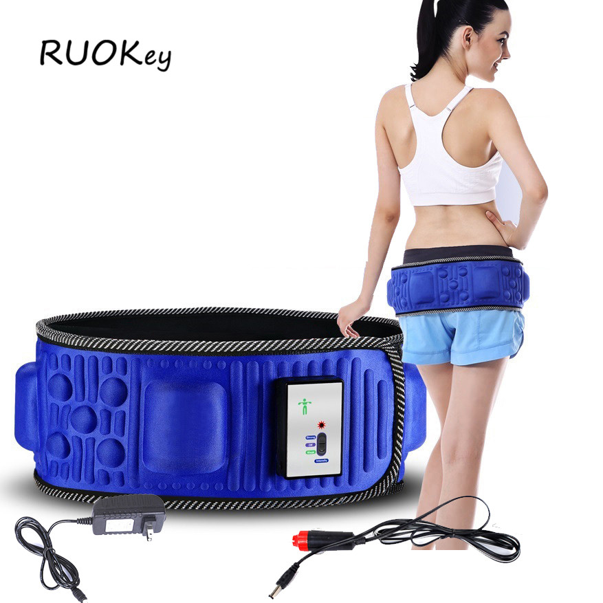 Electric Slimming Belt Lose Weight Fitness Massage X5 Times Sway Vibration Abdominal Belly Muscle Waist Trainer Stimulator