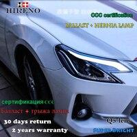 Hireno Фары для 2014 Toyota REIZ MARK X Сборки Фар LED DRL Ангел Объектива Двойной Луч HID Xenon 2 шт.