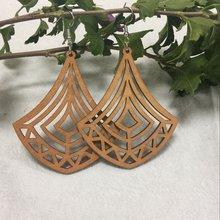 5 пар полые деревянные треугольные висячие серьги