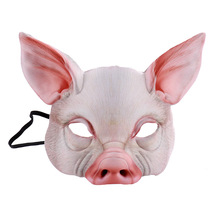 EVA Pig Head Masks Mascaras Animales Cute Halloween Mask Prop Party Carnival Unisex Accessories Tools Realistic Masker